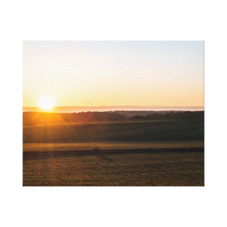 Sunsets morning canvas print