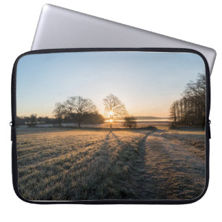 Sunsets morning laptop computer sleeve