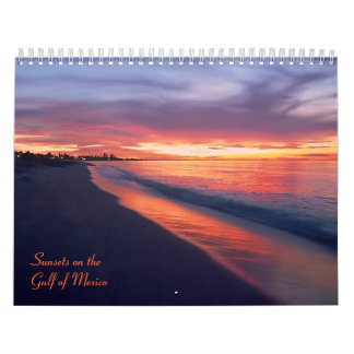 Sunsets on the Gulf of Mexico 2013 Calendar