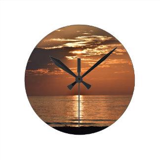 sunsetsomewhere.JPG Round Clock