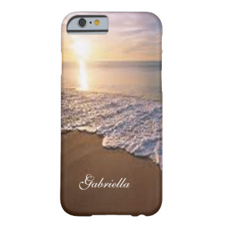 Sunsetting Beach With Ocean Scene Phone Case
