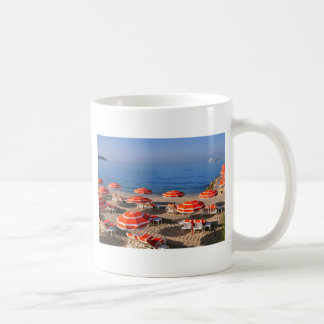 Sunshades on the beach in France Coffee Mug