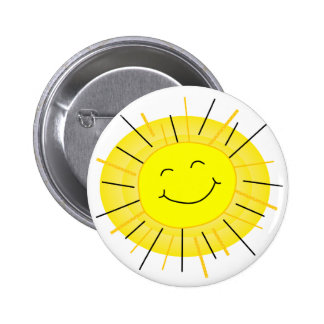Sunshine 2 Inch Round Button