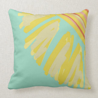 Sunshine Abstract Bright Design Artwork Throw Pillow