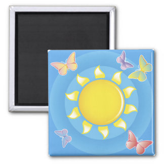 Sunshine and Butterflies Magnet