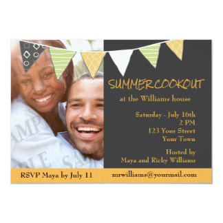 Sunshine and Charcoal Grill Cookout Invite