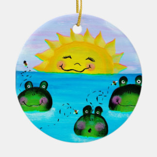 Sunshine and Frogs Ornament