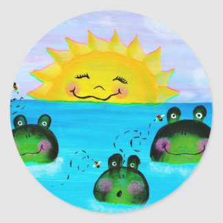 SUNSHINE and Frogs Sticker
