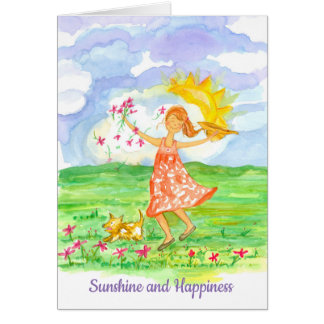 Sunshine and Happiness Thinking of You Card