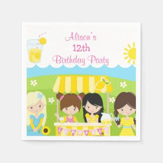 Sunshine and Lemonade Birthday Napkin