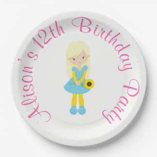 Sunshine and Lemonade Birthday Paper Plate