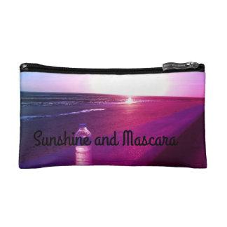 """Sunshine and Mascara Cosmetic Bag"
