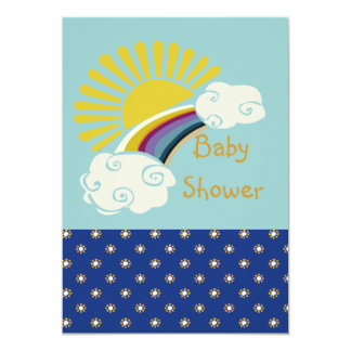 Sunshine and Rainbow Baby Shower Card