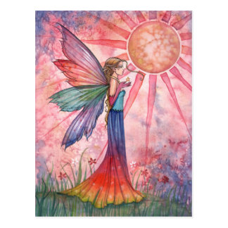 Sunshine and Rainbow Fairy Postcard
