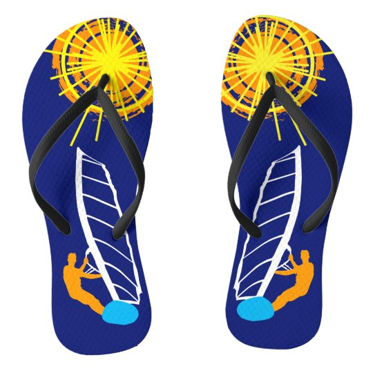 Sunshine and surfing one-of-a-kind flip flops