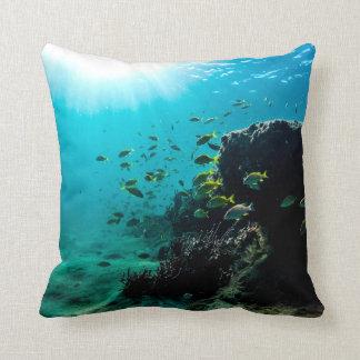 Sunshine and Tropical Fish Throw Pillow