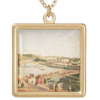 Sunshine at Rouen, 1896 (oil on canvas) Gold Plated Necklace