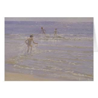 Sunshine at Skagen: Boys Swimming, 1892 Card