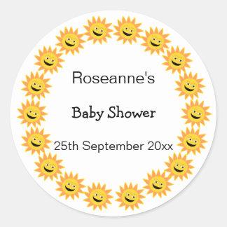 Sunshine Baby Shower Classic Round Sticker