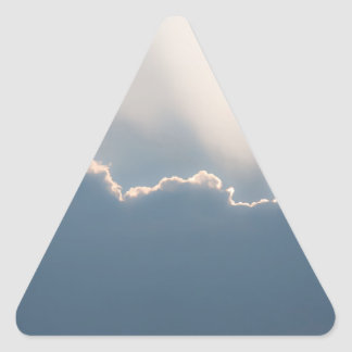 Sunshine behind clouds triangle stickers