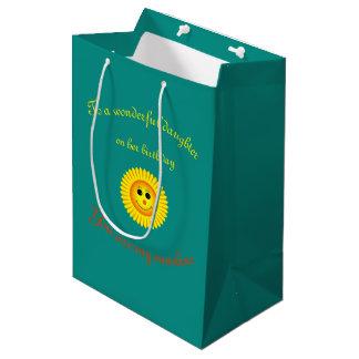 Sunshine Birthday Daughter Medium Gift Bag
