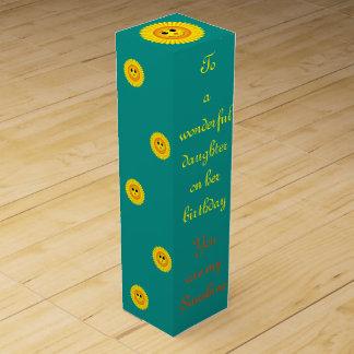Sunshine Birthday Daughter Wine Box
