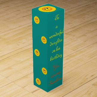 Sunshine Birthday Daughter Wine Gift Box