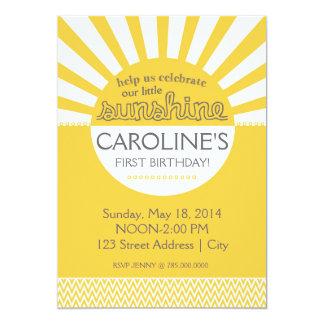 "Sunshine Birthday Invitation 5"" X 7"" Invitation Card"