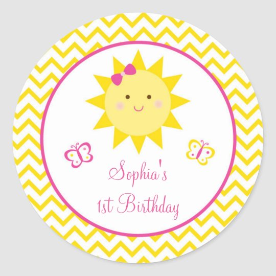 Sunshine Birthday Stickers You Are My Sunshine