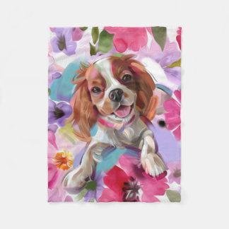 'Sunshine' Blenheim cavalier fleece blanket SMALL