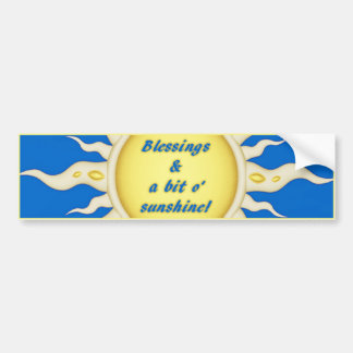 Sunshine Blessings Bumper Sticker