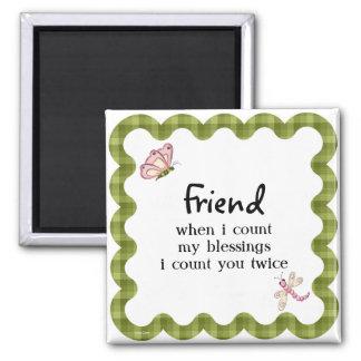 Sunshine Butterfly Friendship Blessings Gift Magnet