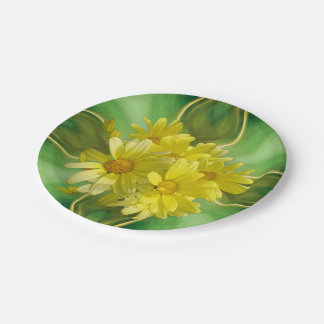 Sunshine Celebration Daisies Paper Plate