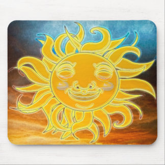 Sunshine Celetial Sun New Age Mouse Pad