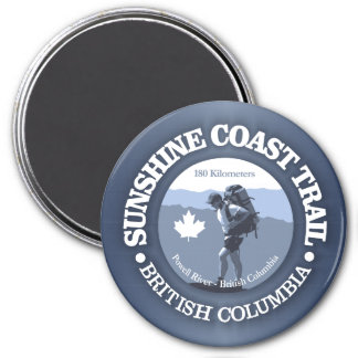Sunshine Coast Trail 3 Inch Round Magnet