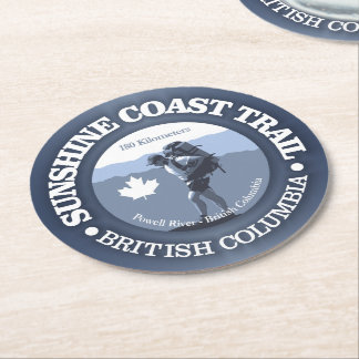Sunshine Coast Trail Round Paper Coaster