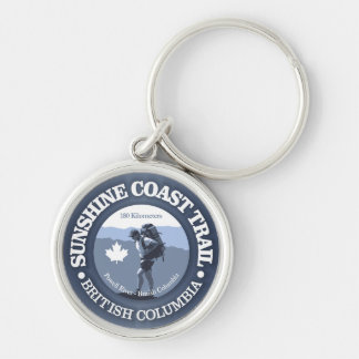 Sunshine Coast Trail Silver-Colored Round Keychain