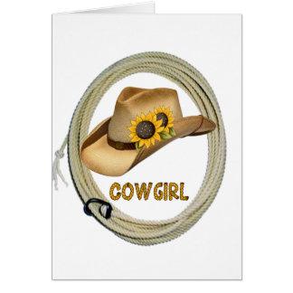 Sunshine Cowgirl Note Card