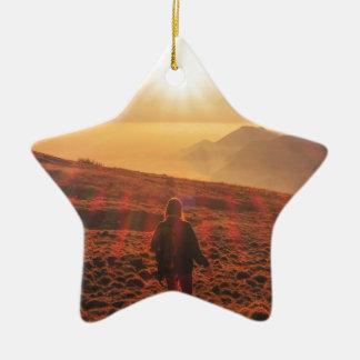 Sunshine - Dawn or Dusk Ceramic Star Ornament