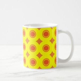 Sunshine Dotted Pattern Mug - Orange