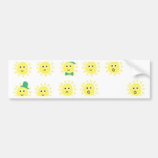 sunshine emotions bumper sticker
