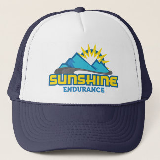 Sunshine Endurance Blue Logo Retro Trucker Hat