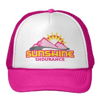 Sunshine Endurance Pink Logo Retro Trucker Hat