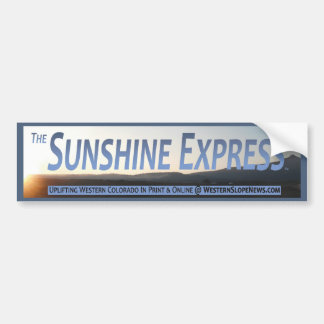 Sunshine Express Official Banner Bumper Sticker