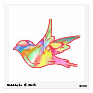 Sunshine Fairies Bird Facing Left Wall Sticker