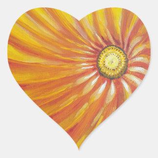 Sunshine Flower Good Morning Heart Sticker