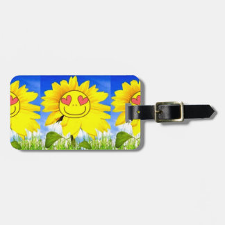 Sunshine flower, i love you so, funny happy bliss luggage tag