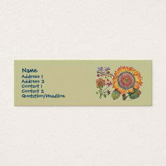 Sunshine flower Profile Card tan background