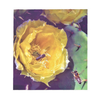 Sunshine, Flowers and Bees. Nature-Themed. Notepad