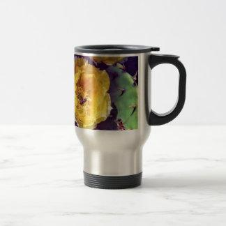 Sunshine, Flowers and Bees. Nature-Themed. Travel Mug